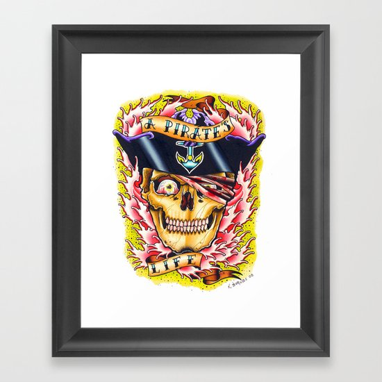 a pirate's life Framed Art Print