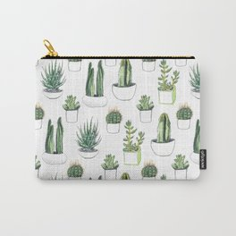 Watercolour Cacti & Succulents Carry-All Pouch
