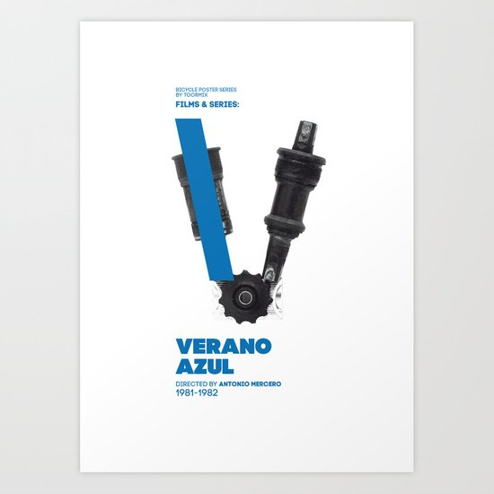 Bike to Life - Verano Azul Art Print