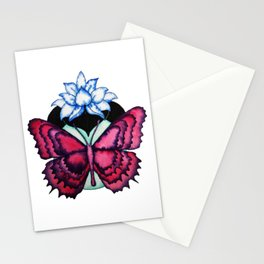 Butterfly Lotus Stationery Cards