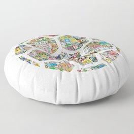 Philately Soccer Ball Floor Pillow