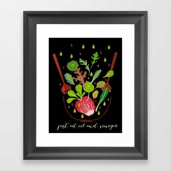 just ad oil and vinegar Framed Art Print