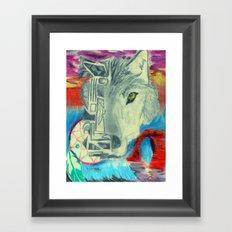 Desert Wolf Framed Art Print