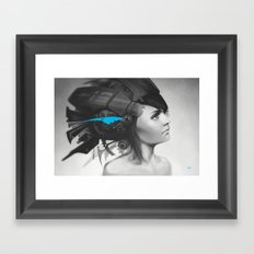 Feather Blue Framed Art Print
