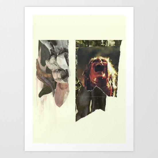 24 Bullets Vs 24 Wolves Art Print