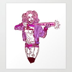 Suicide Squad Harley Quinn Art Print