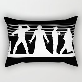 The Usual Horror Suspects Rectangular Pillow