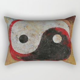 Yin Yang Dragon Rectangular Pillow