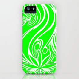Weed phone case 1 lime iPhone Case