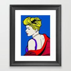 Robyn - Roy Lichtenstein Inspired Portrait 2 Framed Art Print