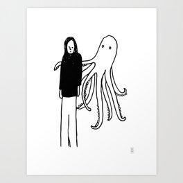 Octopus Hug Art Print