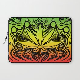 weed2 green red yellow Laptop Sleeve