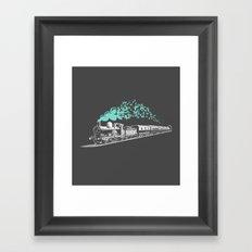 Butterfly Train Framed Art Print