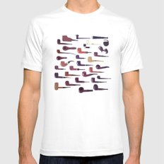 A pipe for every man MEDIUM White Mens Fitted Tee