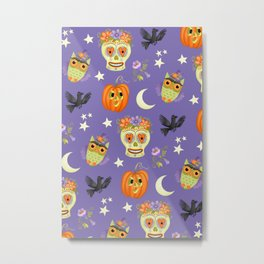 Halloween Pattern 2020 Metal Print