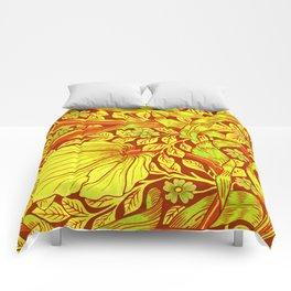 William Morris Cinnabar Forget Me Not Floral Art Nouveau Comforters