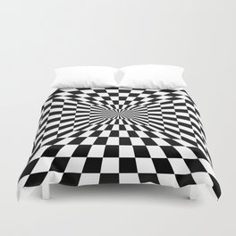 Optical Illusion Hallway Duvet Cover