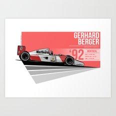 Gerhard Berger - 1992 Montreal Art Print