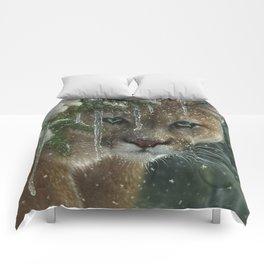Cougar / Mountain Lion - Frozen Comforters