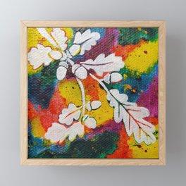 Leaves on the World Tree: Bulgarian Granit Oak Framed Mini Art Print