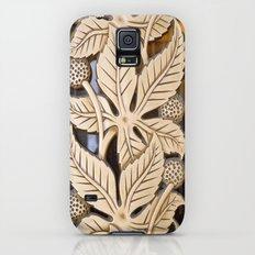 Bronze Art deco leaves Galaxy S5 Slim Case