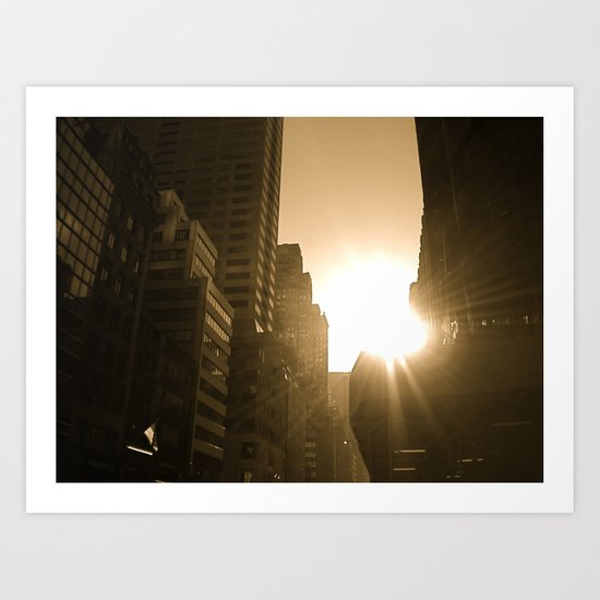 Sundown on Fifth Ave. Art Print