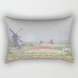 Tulip Fields near The Hague Rectangular Pillow