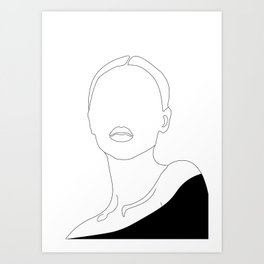 Elegant Woman Portrait Art Print