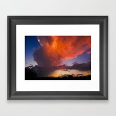 Before The End Of The Storm Framed Art Print