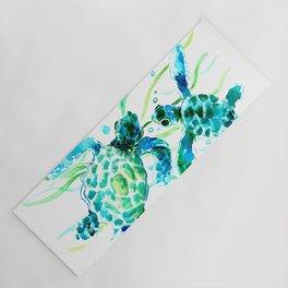 Sea Turtles, Turquoise blue Design Yoga Mat