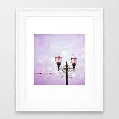 Lamplight of Cotton Candy Dreams Framed Art Print