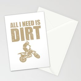 All I Need Is Dirt Bike Motocross Off-Roading print Stationery Cards
