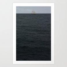 sails over waves Art Print