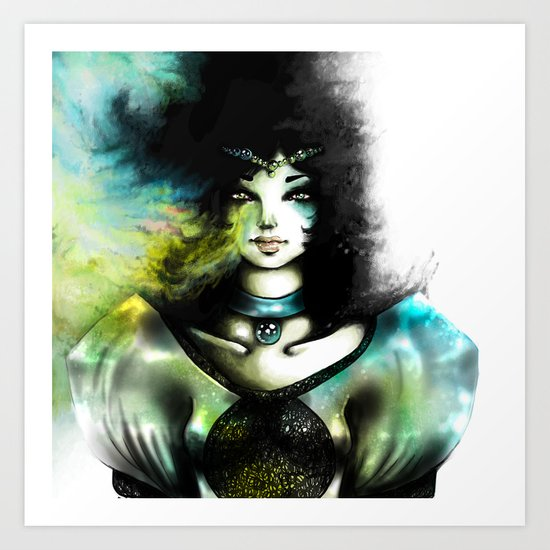 THE GREEN WOMAN Art Print