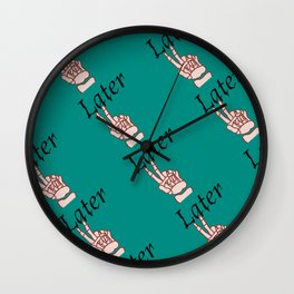 Later Skeleton Print Wall Clock