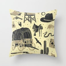 Mild West Throw Pillow