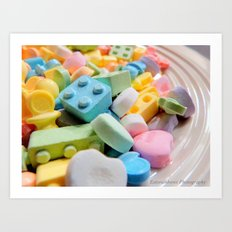 Like a kid in the candy store Art Print