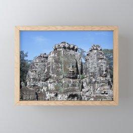 Bayon Temple in Angkor Wat Framed Mini Art Print