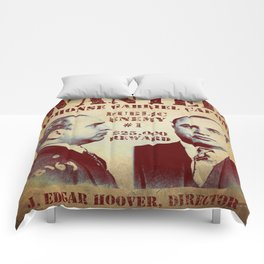 Al Capone FBI Wanted Poster Comforters