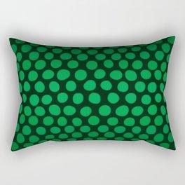 Emerald Green Ombre Dots Rectangular Pillow