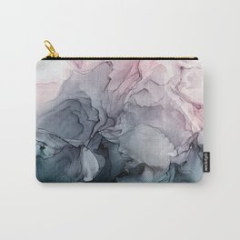 Blush and Payne's Grey Flowing Abstract Painting Tasche