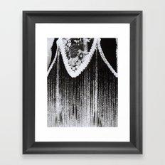 Lamp Negative Framed Art Print
