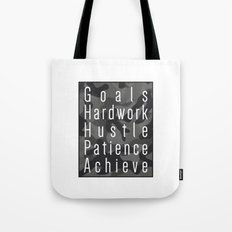 Way to success - goals, hardwork, hustle, patience, achieve Tote Bag