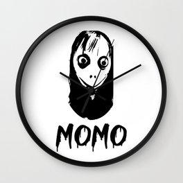 Momo scary myth logo Wall Clock