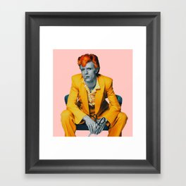 pinky bowie 2 Framed Art Print