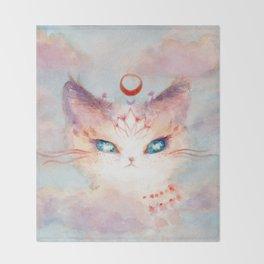 Stargazer Cat : Vision Seeker Throw Blanket