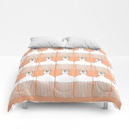 I pick my afro - (orange) Comforters
