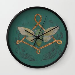 Call Of The Cicada Wall Clock