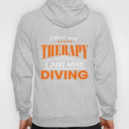 diving is my therapy Hoody