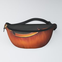 Silhouette of cello, musical painting Fanny Pack